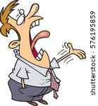 cartoon man complaining | Shutterstock .eps vector #576195859