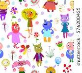 jolly debonair monsters....   Shutterstock .eps vector #576200425