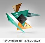 vector glass triangles... | Shutterstock .eps vector #576204625