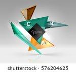 vector glass triangles... | Shutterstock .eps vector #576204625