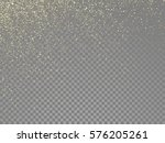 glow gold particles and star... | Shutterstock .eps vector #576205261