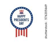 presidents day card  united... | Shutterstock .eps vector #576205669