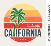 california tee print with... | Shutterstock .eps vector #576212209