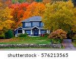 fall house at port sydney ... | Shutterstock . vector #576213565