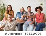 friendship  people and holidays ... | Shutterstock . vector #576219709