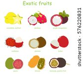 exotic fruit. vitamin for... | Shutterstock .eps vector #576220831
