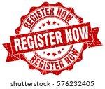 register now. stamp. sticker.... | Shutterstock .eps vector #576232405