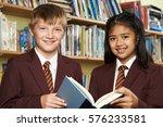 pupils wearing school uniform... | Shutterstock . vector #576233581