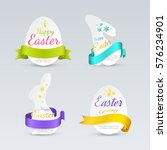 set of easter labels in the... | Shutterstock .eps vector #576234901