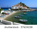Traditional Greek Village With...