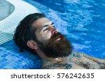 handsome man or swimmer ... | Shutterstock . vector #576242635