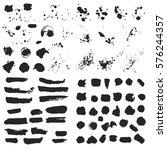 set of black stripes and...   Shutterstock .eps vector #576244357