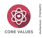 company core values outline... | Shutterstock .eps vector #576246091