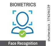 biometric scanning facial... | Shutterstock .eps vector #576246139