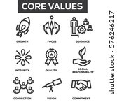 company core values outline... | Shutterstock .eps vector #576246217