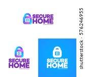 secure home logo set on...   Shutterstock .eps vector #576246955
