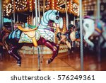 old french carousel in a... | Shutterstock . vector #576249361