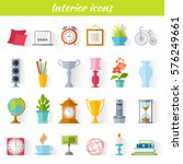 icons of home decor  interior...   Shutterstock .eps vector #576249661
