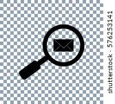 searching email icon. ... | Shutterstock .eps vector #576253141