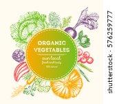 design template for vegetables...   Shutterstock .eps vector #576259777