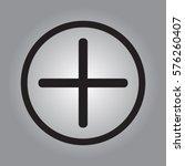 plus icon  positive symbol... | Shutterstock .eps vector #576260407