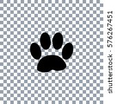 paw print  on transporent... | Shutterstock .eps vector #576267451