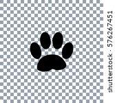 paw print  on transporent... | Shutterstock .eps vector #576267451
