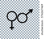 male and female icon  on... | Shutterstock .eps vector #576267469