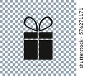 present vector icon on... | Shutterstock .eps vector #576271171