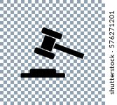 law icon. hammer icon on... | Shutterstock .eps vector #576271201