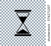 hourglass vector icon on... | Shutterstock .eps vector #576271207