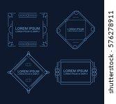 vector outline text template. | Shutterstock .eps vector #576278911