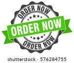 order now. stamp. sticker. seal.... | Shutterstock .eps vector #576284755