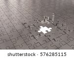 3d illustration   puzzle build... | Shutterstock . vector #576285115