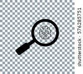 brain ikon vector. search ikon... | Shutterstock .eps vector #576285751