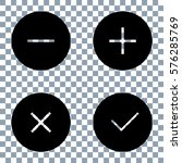 simple checkmark  cross and... | Shutterstock .eps vector #576285769