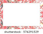 horizontal frame of stained... | Shutterstock . vector #576291529