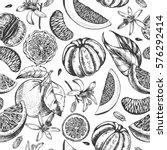 decorative seamless pattern... | Shutterstock .eps vector #576292414