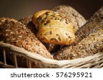 various types of bread in a...   Shutterstock . vector #576295921