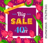 seasonal big sale banner.... | Shutterstock .eps vector #576296161