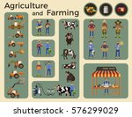 agriculture and farming.... | Shutterstock .eps vector #576299029