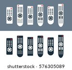 set of remote controls for tv... | Shutterstock .eps vector #576305089