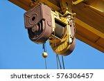 full gantry crane windlass over ... | Shutterstock . vector #576306457
