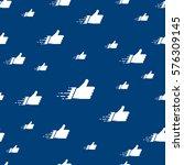 seamless pattern made of flat... | Shutterstock .eps vector #576309145