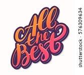 all the best. farewell card.  | Shutterstock .eps vector #576309634
