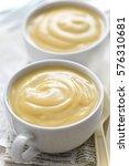 vanilla pudding dessert in...   Shutterstock . vector #576310681