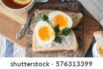 soft boiled eggs for breakfast... | Shutterstock . vector #576313399