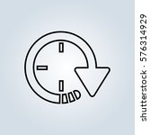 clock icon in trendy. time...
