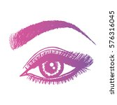 illustration with woman's eye... | Shutterstock .eps vector #576316045