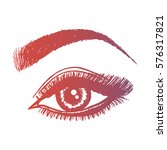 illustration with woman's eye... | Shutterstock .eps vector #576317821